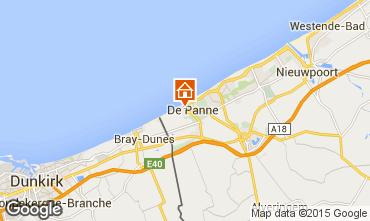 Mapa La Panne Apartamento 59835