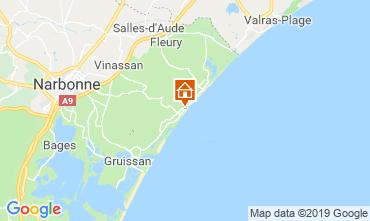 Mapa Narbonne plage Apartamento 97752