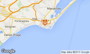 Mapa Cap d'Agde Villa 100129