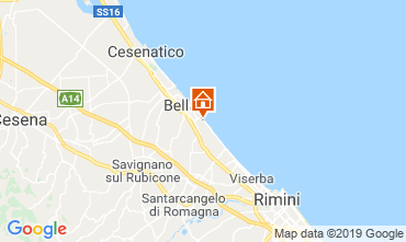 Mapa Bellaria Igea Marina Apartamento 81806