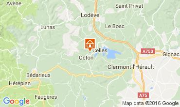 Mapa Clermont l'Hérault Casa rural 12323