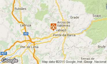 Mapa Arcos de Valdevez Casa rural 72429