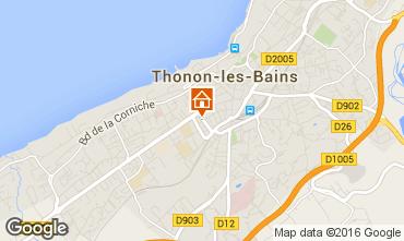 Mapa Thonon Les Bains Apartamento 102720