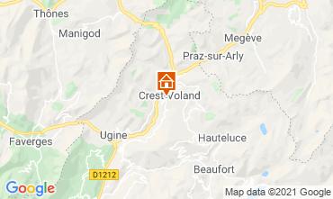 Mapa Crest Voland Cohennoz Apartamento 61386