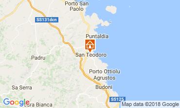 Mapa San Teodoro Apartamento 85598
