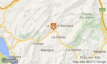 Mapa La Clusaz Chalet 66735