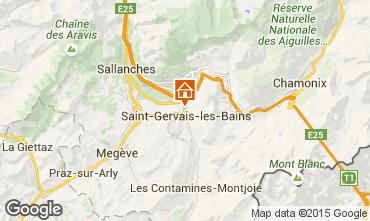 Mapa Saint Gervais Mont-Blanc Chalet 2549