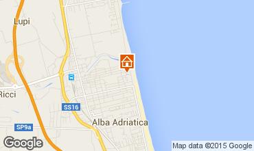 Mapa Alba Adriatica Apartamento 93590