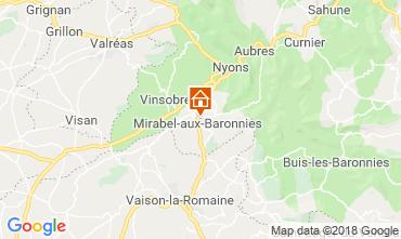 Mapa Nyons Villa 117379