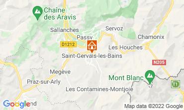 Mapa Saint Gervais Mont-Blanc Apartamento 66844