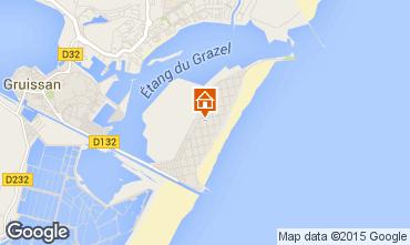 Mapa Gruissan-Plage Chalet 83710