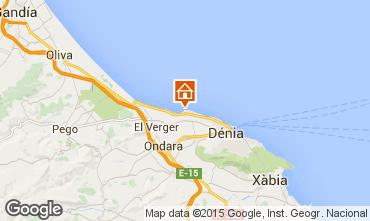 Mapa Denia Apartamento 55579