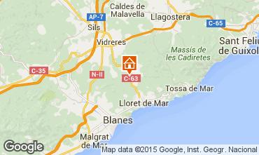 Mapa Lloret de Mar Villa 68349