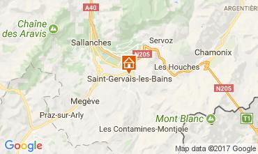 Mapa Saint Gervais Mont-Blanc Apartamento 111843