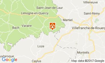 Mapa Saint-Cirq-Lapopie Casa 78663