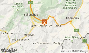 Mapa Saint Gervais Mont-Blanc Apartamento 90703