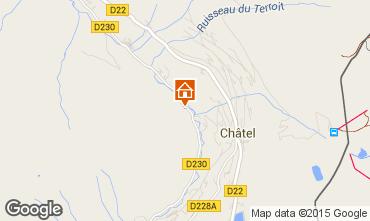 Mapa Châtel Chalet 73656