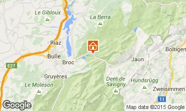 Mapa Charmey Chalet 72762