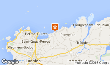 Mapa Perros-Guirec Casa rural 83929