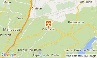 Mapa Valensole Casa rural 105053