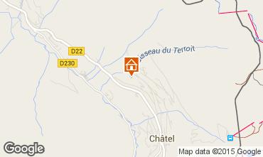 Mapa Châtel Chalet 58875