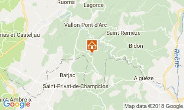 Mapa Labastide de Virac Villa 116056