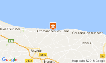 Mapa Arromanches Casa rural 113148