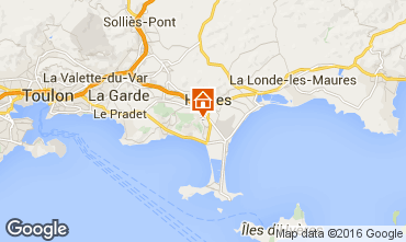 Mapa Hyères Villa 102987