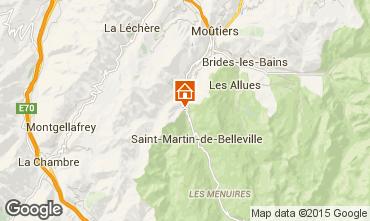 Mapa Saint Martin de Belleville Chalet 98698