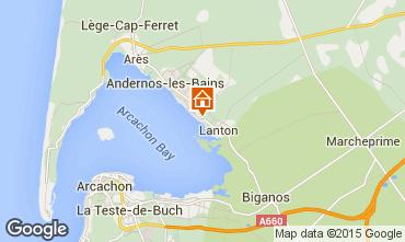 Mapa Andernos les Bains Casa rural 80951
