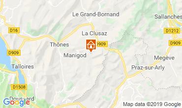 Mapa Manigod-Croix Fry/L'étale-Merdassier Apartamento 116760