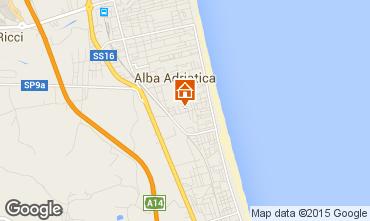 Mapa Alba Adriatica Apartamento 64221
