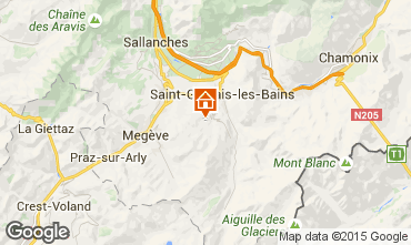 Mapa Saint-Gervais-les-Bains Estudio 101691