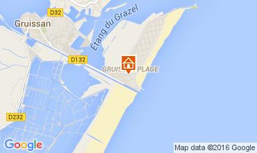 Mapa Gruissan-Plage Chalet 105028