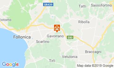 Mapa Gavorrano Casa rural 80622