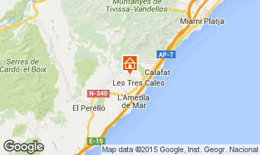 Mapa La Ametlla de Mar Chalet 89245