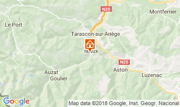 Mapa Ussat les Bains Casa rural 95886