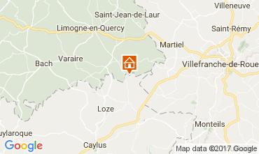 Mapa Saint-Cirq-Lapopie Casa rural 51135