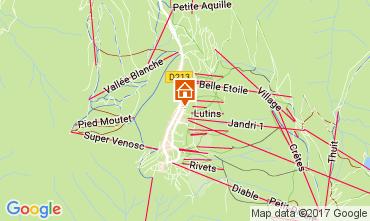 Mapa Les 2 Alpes Estudio 112485