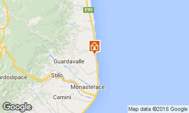 Mapa Santa Caterina dello Ionio Apartamento 78323