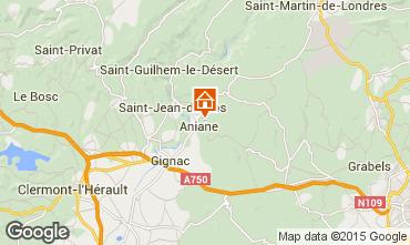 Mapa Saint Guilhem le Désert Villa 30945