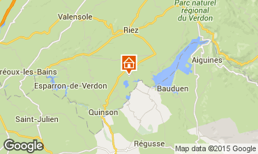 Mapa Sainte-Croix-du-Verdon Apartamento 83052