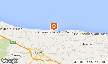 Mapa Arromanches Casa rural 81097