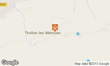 Mapa Thollon Les M�mises Apartamento 69651