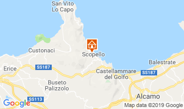 Mapa Scopello Villa 66027
