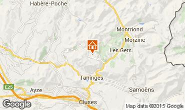 Mapa Praz de Lys Sommand Chalet 14859