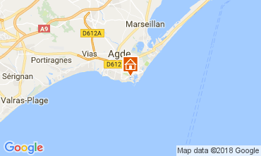 Mapa Cap d'Agde Apartamento 99840