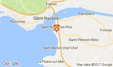 Mapa Saint Brevin les Pins Casa 52156