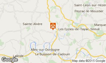 Mapa Le Bugue Casa rural 87775