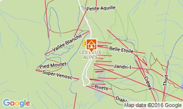 Mapa Les 2 Alpes Apartamento 105180